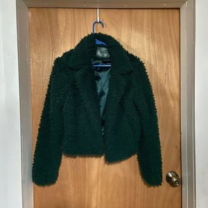 Forest Green Teddy Bear Jacket